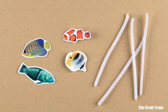 kids tropical fish craft with free printable