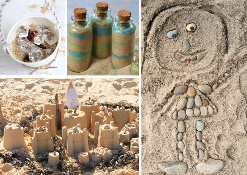 Sand crafts and activities, perfect for Summer