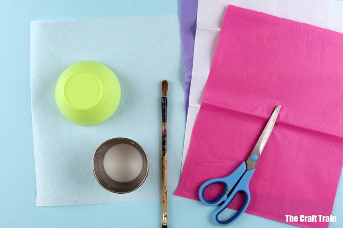 tissue paper jellyfish materials