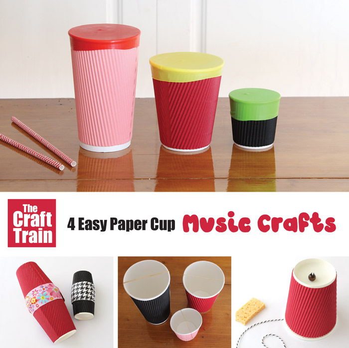 Make four paper cup music crafts – a fun and easy stem activity for kids