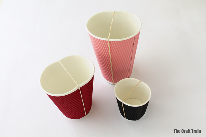 paper cup guitars made from paper cup and rubber bands