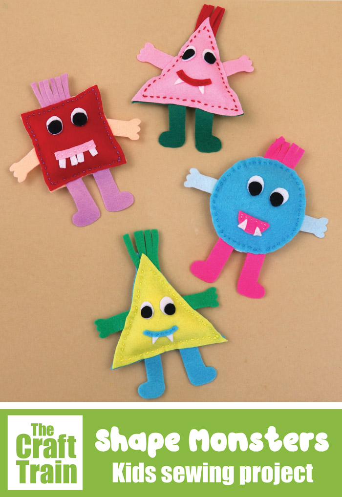shape monsters craft for kids