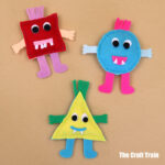 Shape monsters sewing pattern