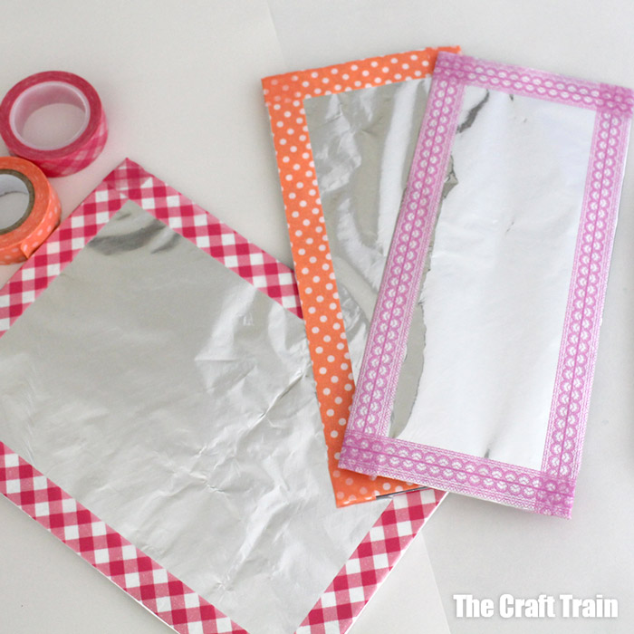 Foil and washi tape art frames
