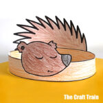 printable hedgehog hat paper craft for kids