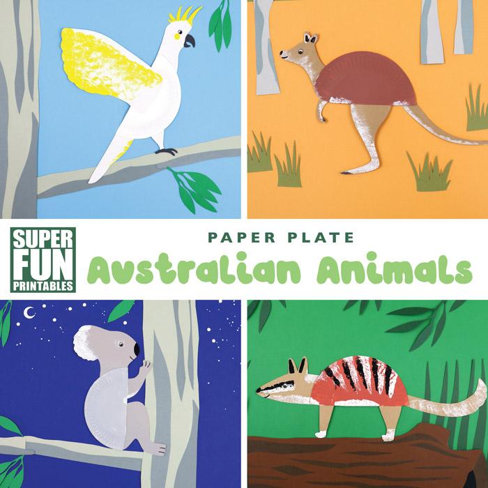 Australian paper plate animals