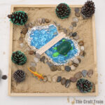 small world play in a sandbox – how to make a sandbox small world at home