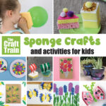sponge crafts and activities for kids