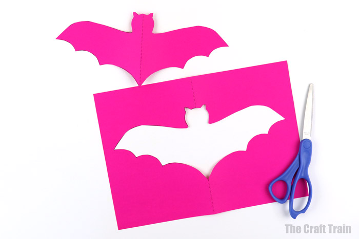 paper bat suncatcher craft