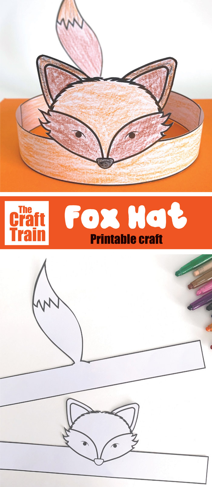 print and colour fox craft