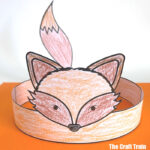 printable fox craft hat kids can make