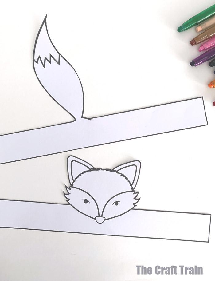 fox hat template free printable
