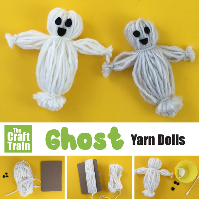yarn doll ghost craft idea