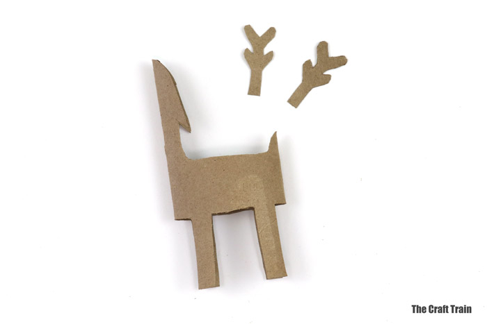 cut out the reindeer shape
