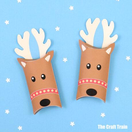 DIY reindeer pillow box