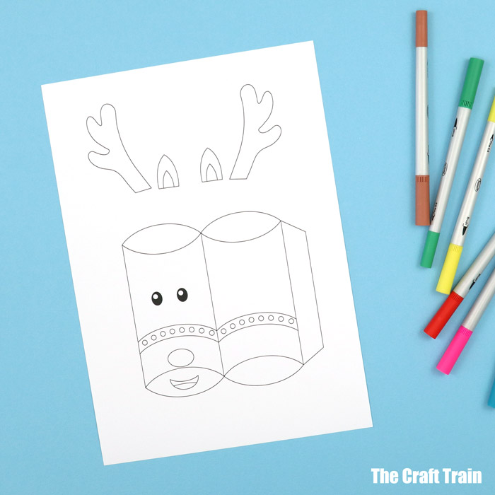 line art pillow box template for colour your own
