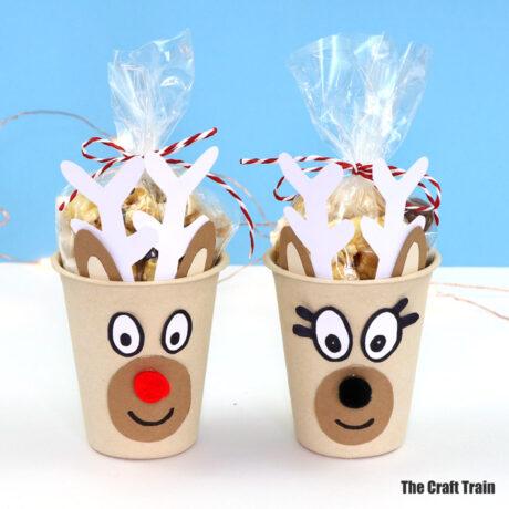 Reindeer treat cups handmade gift idea