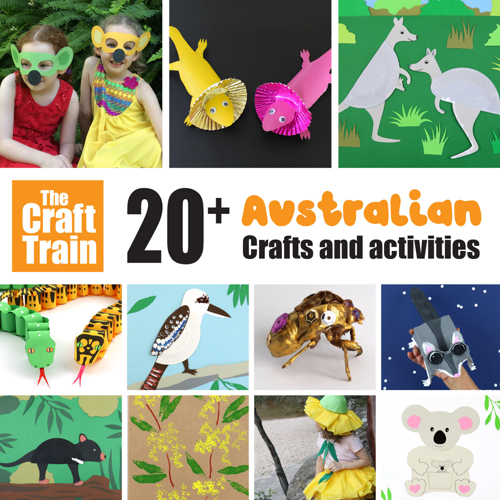Australian crafts and printables for kids – over 20 fun ideas!