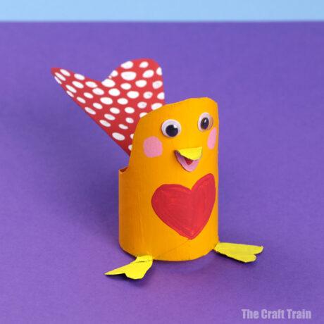love bird Valentines Day craft for kids