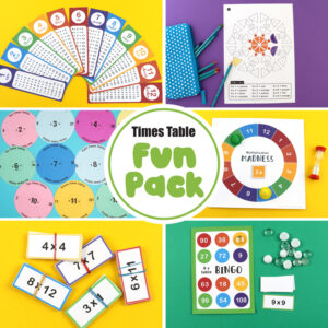 Times table fun pack for kids