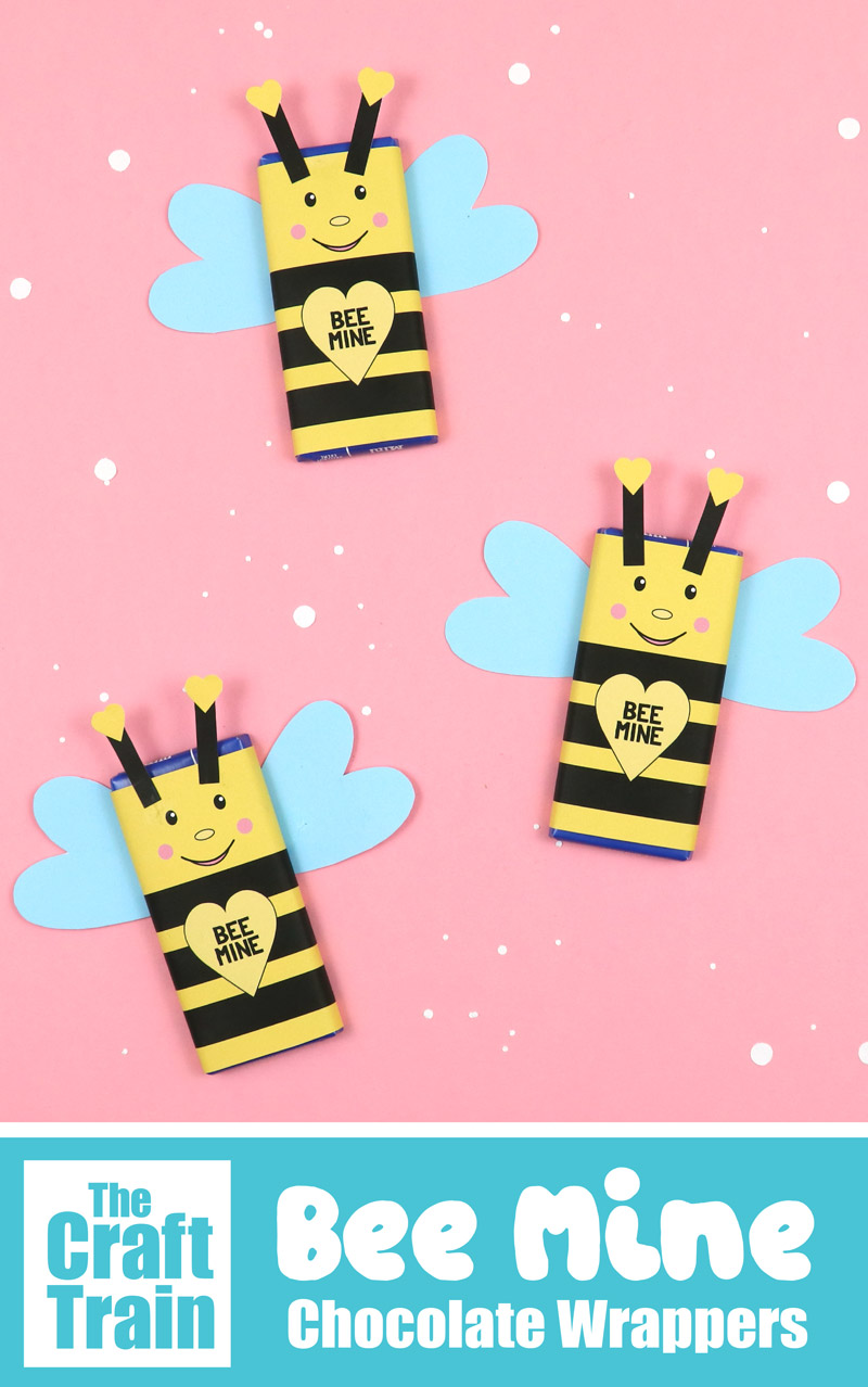 Bee mine printable valentines Day candy bar wrapper