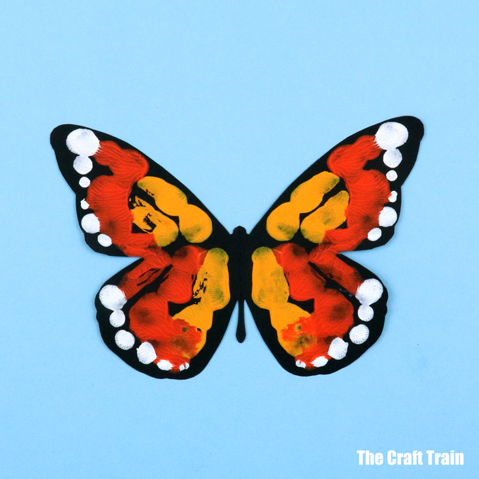 monarch butterfly painting art project for kids