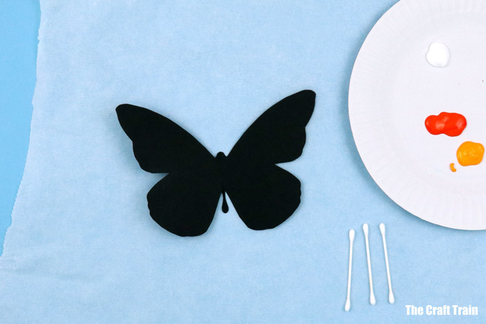 butterfly painting shape
