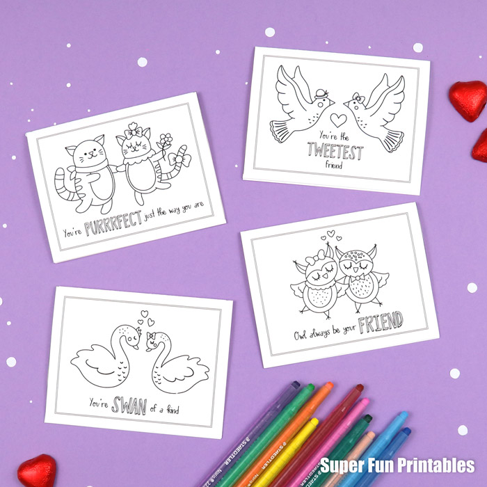 Colouring Valentine cards