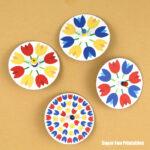 tulip spinner craft for kids