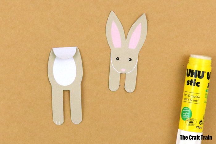 step 3 of bunny bookmark craft