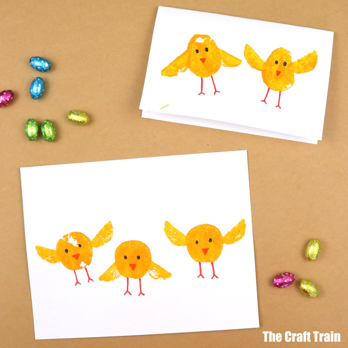 chick card and artwork