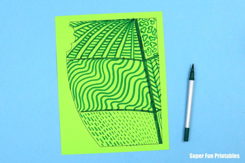 leaf doodle step