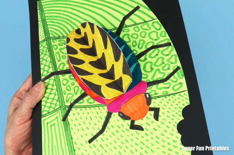 Easy 3D insect craft for kids with a printable template – doodlebugs!