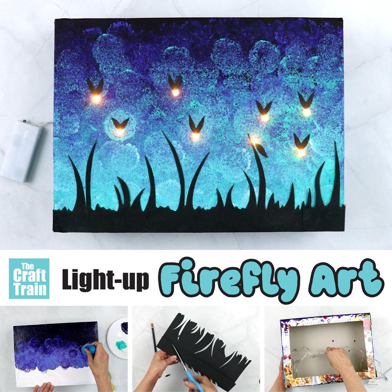DIY firefly art that lights up
