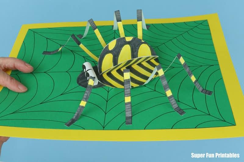UK garden spider craft side view
