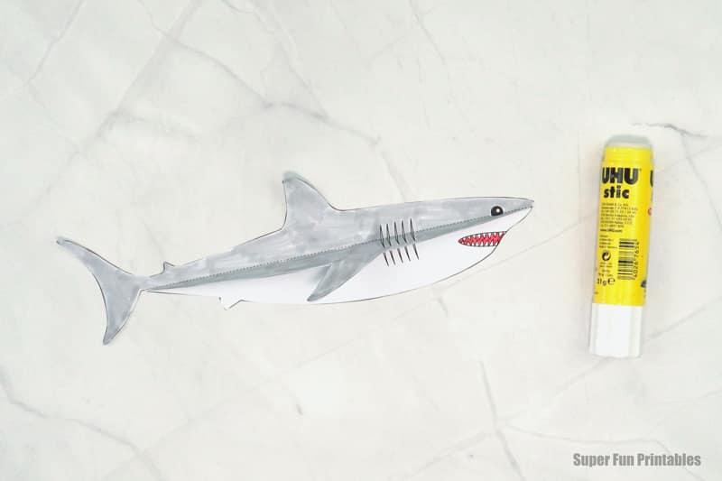 paper craft shark