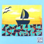 paper mosaic summer art project for kids