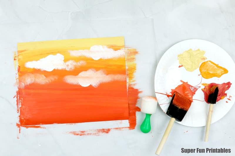 Acrylic sunset blend step 2