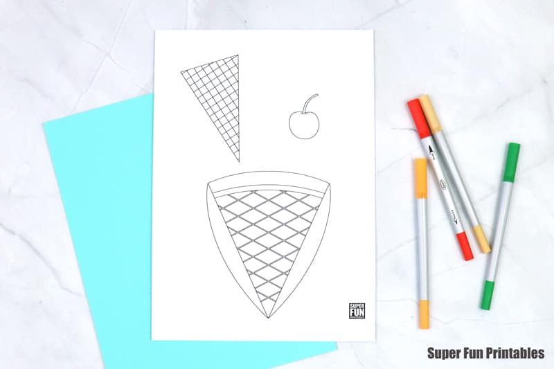 supplies needed to create your ice cream craft