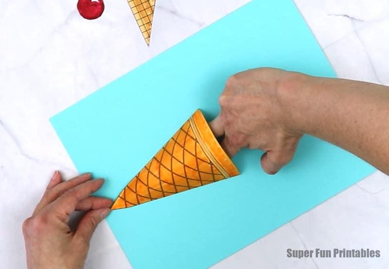 ice cream craft steps