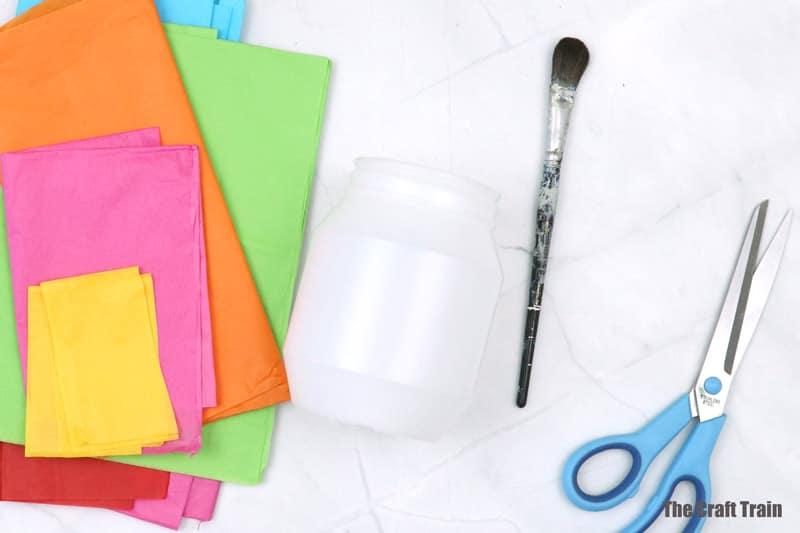 plastic lantern craft steps 1
