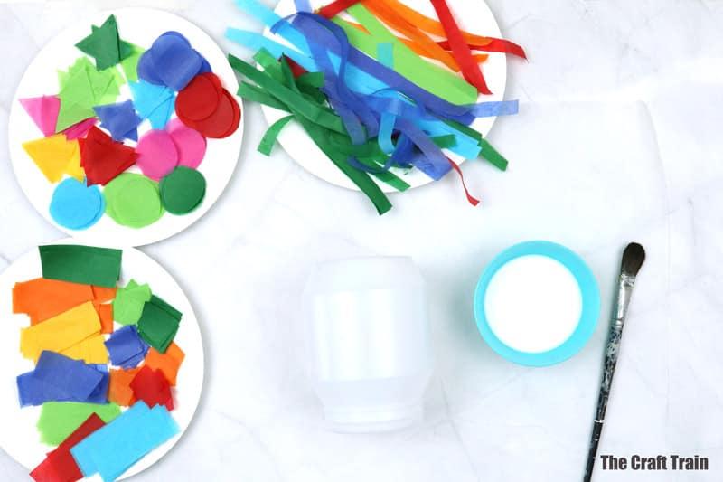 upcycled plastic lantern craft steps 1