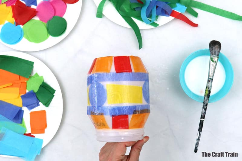 geometric plastic tissue paper lantern