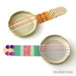 Mini banjos craft for kids