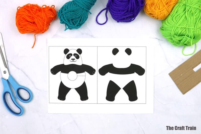 panda template for pom pom panda craft
