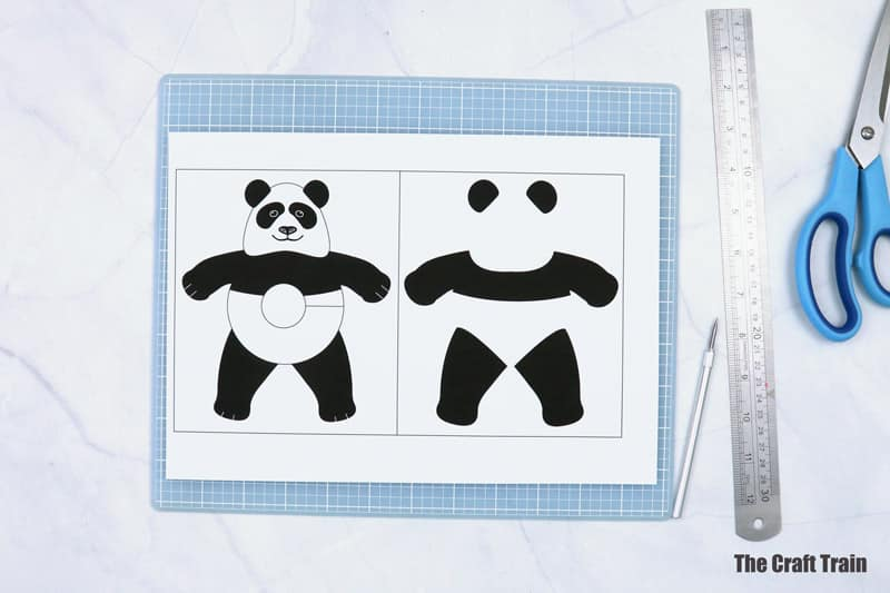pom pom panda template