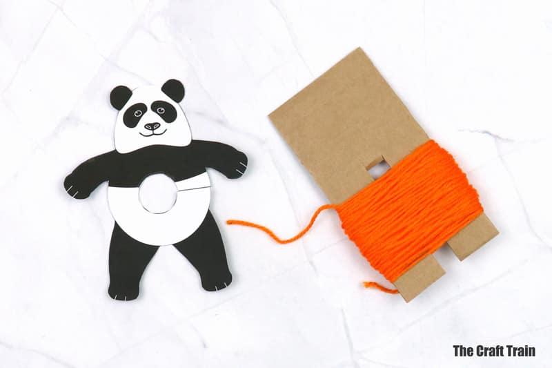 pom pom panda craft steps