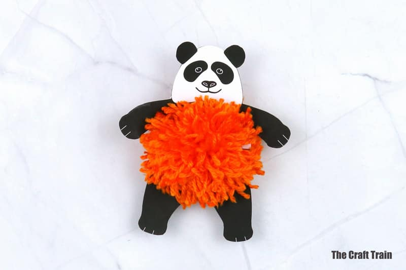 pom pom panda craft