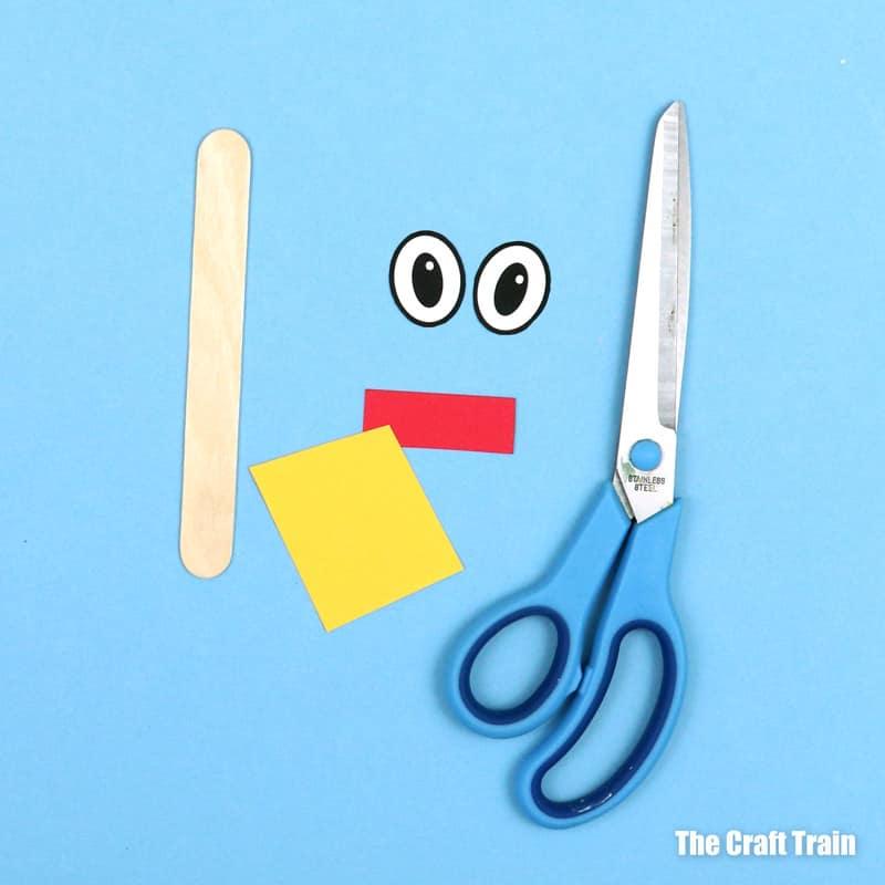 craft tick puppet materials