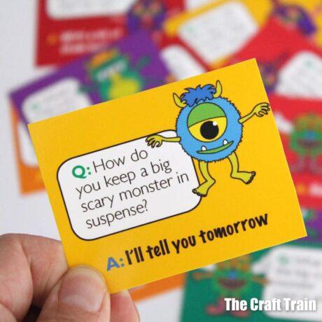 Printable monster jokes for kids
